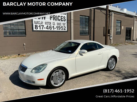 2002 Lexus SC 430 for sale at BARCLAY MOTOR COMPANY in Arlington TX