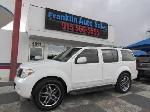 2006 Nissan Pathfinder for sale at Franklin Auto Sales in El Paso TX