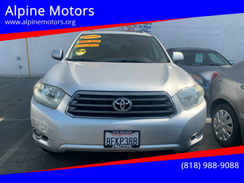 2009 Toyota Highlander for sale at Alpine Motors in Van Nuys CA