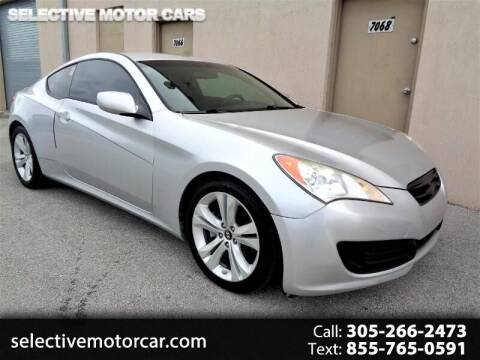 2010 Hyundai Genesis Coupe for sale at Selective Motor Cars in Miami FL