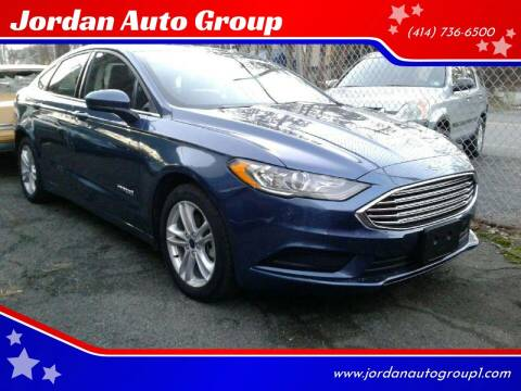 2018 Ford Fusion Hybrid for sale at Jordan Auto Group in Paterson NJ