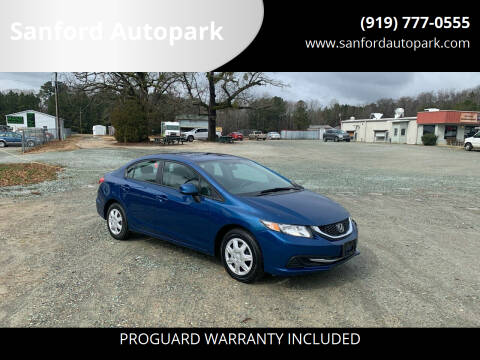 2013 Honda Civic for sale at Sanford Autopark in Sanford NC