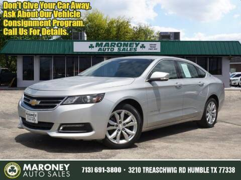 2018 Chevrolet Impala for sale at Maroney Auto Sales in Humble TX