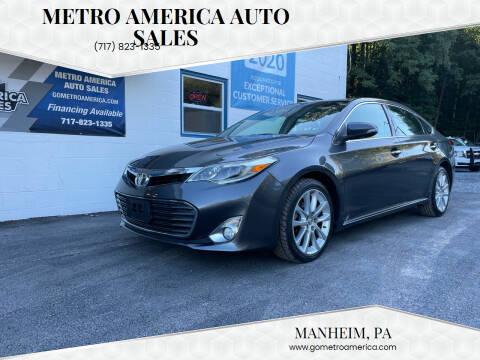 2013 Toyota Avalon for sale at METRO AMERICA AUTO SALES of Manheim in Manheim PA