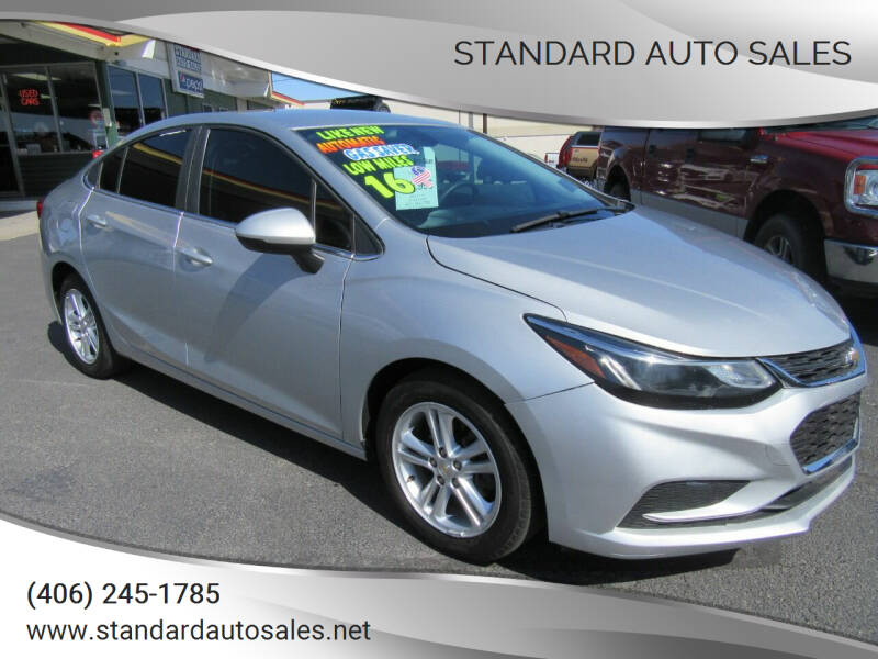 2016 Chevrolet Cruze for sale at Standard Auto Sales in Billings MT