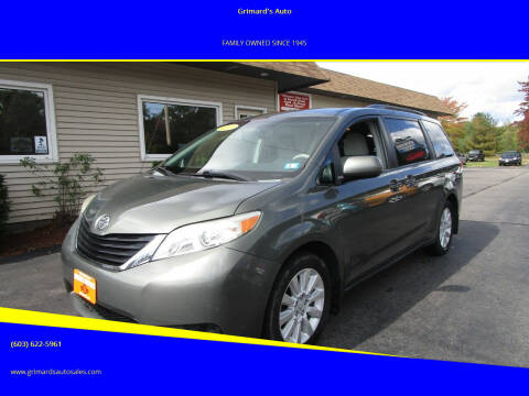 2013 Toyota Sienna for sale at Grimard's Auto in Hooksett, NH