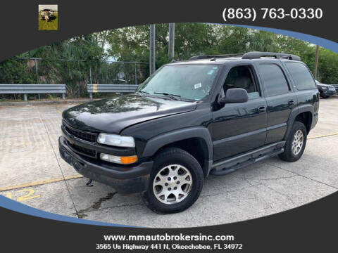 2005 Chevrolet Tahoe for sale at M & M AUTO BROKERS INC in Okeechobee FL