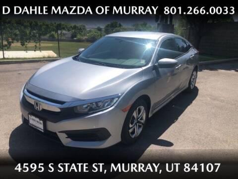 2018 Honda Civic for sale at D DAHLE MAZDA OF MURRAY in Salt Lake City UT