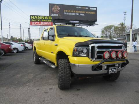 2006 Ford F-350 Super Duty for sale at Hanna's Auto Sales in Indianapolis IN