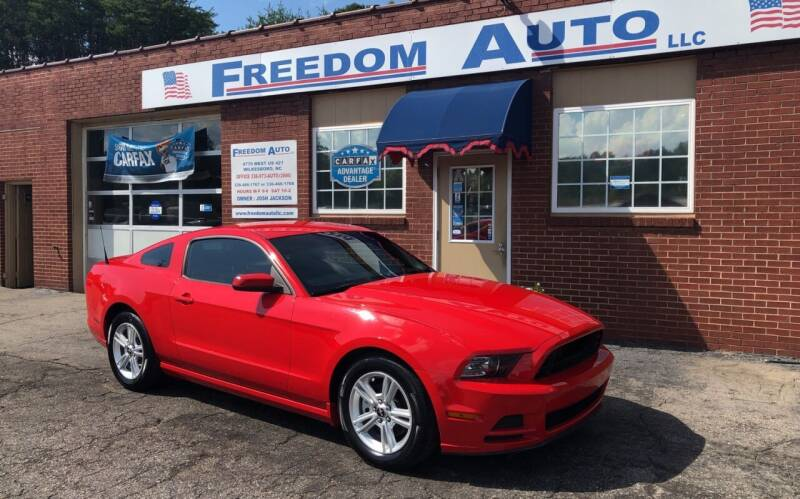 2013 Ford Mustang for sale at FREEDOM AUTO LLC in Wilkesboro NC