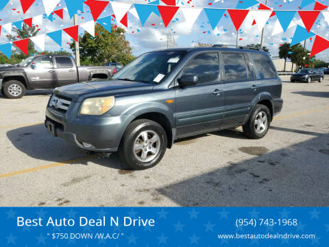 2006 Honda Pilot for sale at Best Auto Deal N Drive in Hollywood FL