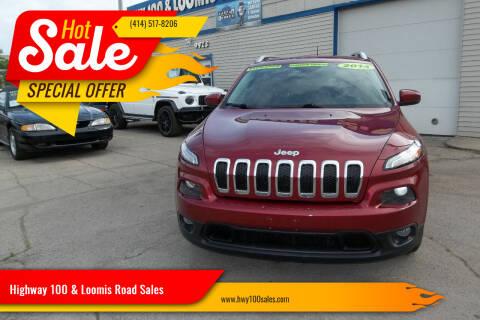 2014 Jeep Cherokee for sale at Highway 100 & Loomis Road Sales in Franklin WI