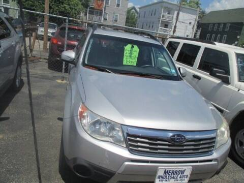 2010 Subaru Forester for sale at MERROW WHOLESALE AUTO in Manchester NH