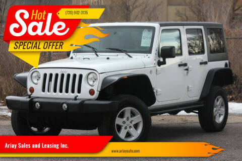 2013 Jeep Wrangler Unlimited for sale at Ariay Sales and Leasing Inc. in Denver CO