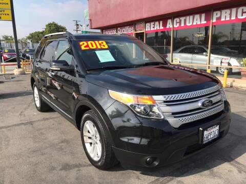 2013 Ford Explorer for sale at Sanmiguel Motors in South Gate CA