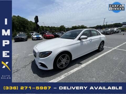 2018 Mercedes-Benz E-Class for sale at Impex Auto Sales in Greensboro NC