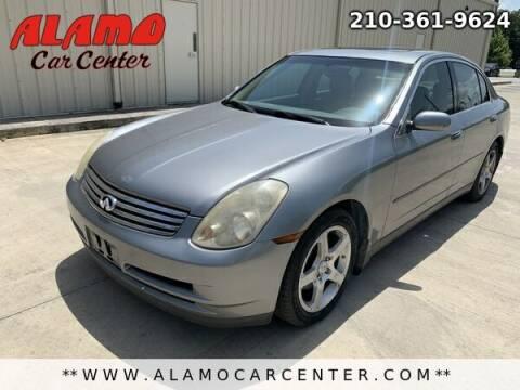 2004 Infiniti G35 for sale at Alamo Car Center in San Antonio TX