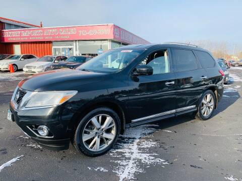 2013 Nissan Pathfinder for sale at LUXURY IMPORTS AUTO SALES INC in North Branch MN