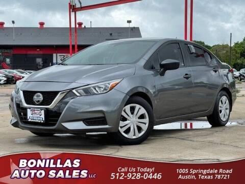 2020 Nissan Versa for sale at Bonillas Auto Sales in Austin TX