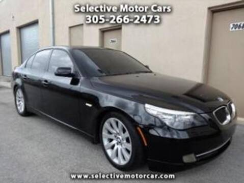2008 BMW 5 Series for sale at Selective Motor Cars in Miami FL