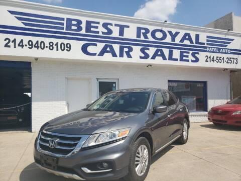 2013 Honda Crosstour for sale at Best Royal Car Sales in Dallas TX