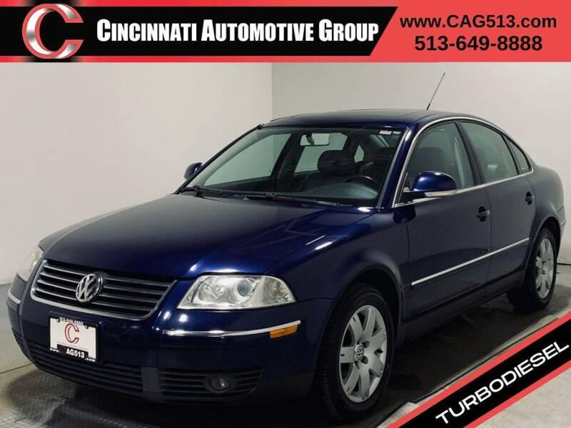 2005 Volkswagen Passat for sale at Cincinnati Automotive Group in Lebanon OH