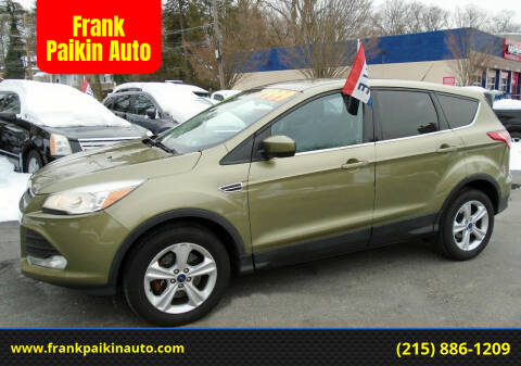 2013 Ford Escape for sale at Frank Paikin Auto in Glenside PA