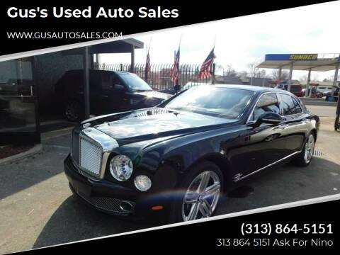 2011 Bentley Mulsanne for sale at Gus's Used Auto Sales in Detroit MI