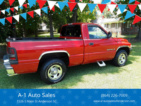 1998 Dodge Ram Pickup 1500 for sale at A-1 Auto Sales in Anderson SC