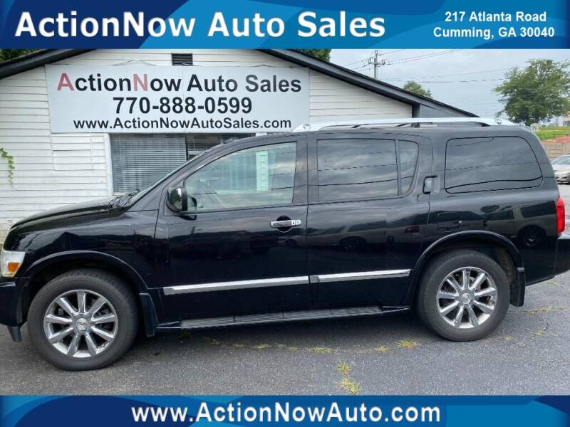2010 Infiniti QX56 for sale at ACTION NOW AUTO SALES in Cumming GA