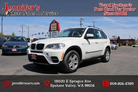 2012 BMW X5 for sale at Jennifer's Auto Sales in Spokane Valley WA