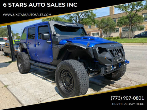 2014 Jeep Wrangler Unlimited for sale at 6 STARS AUTO SALES INC in Chicago IL