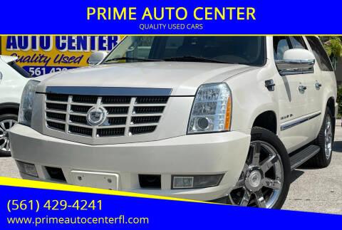 2010 Cadillac Escalade ESV for sale at PRIME AUTO CENTER in Palm Springs FL
