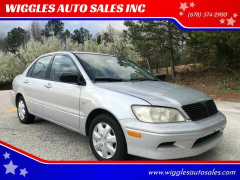 2003 Mitsubishi Lancer for sale at WIGGLES AUTO SALES INC in Mableton GA