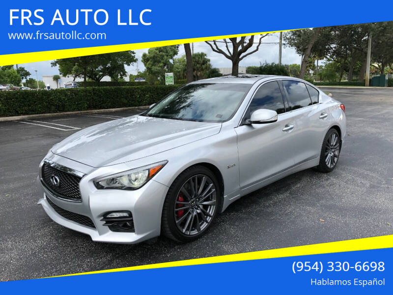 2017 Infiniti Q50 for sale at FRS AUTO LLC in West Palm Beach FL