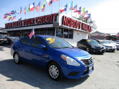 2016 Nissan Versa for sale at Giant Auto Mart 2 in Houston TX