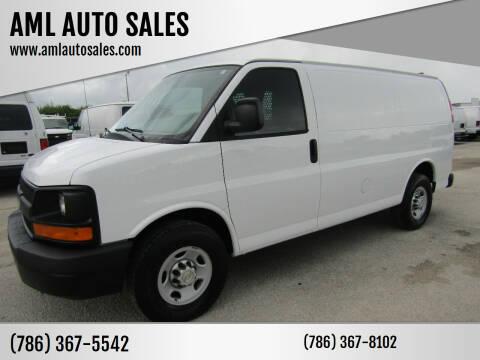 2012 Chevrolet Express Cargo for sale at AML AUTO SALES - Cargo Vans in Opa-Locka FL