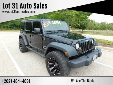 2014 Jeep Wrangler Unlimited for sale at Lot 31 Auto Sales in Kenosha WI