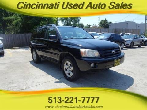 2007 Toyota Highlander for sale at Cincinnati Used Auto Sales in Cincinnati OH