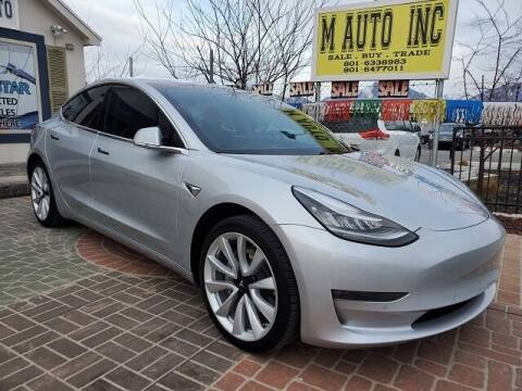 2017 Tesla Model 3 for sale at M AUTO, INC in Millcreek UT