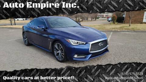 2017 Infiniti Q60 for sale at Auto Empire Inc. in Murfreesboro TN