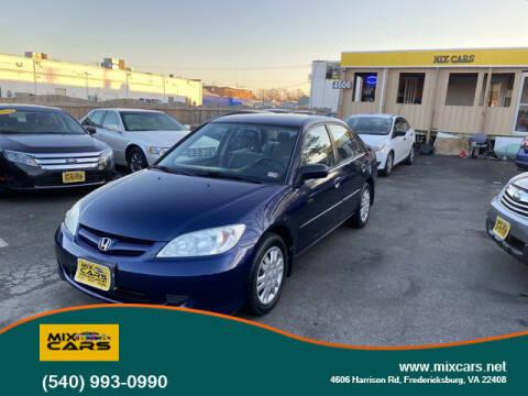 2004 Honda Civic for sale at Mix Cars in Fredericksburg VA