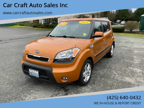 2011 Kia Soul for sale at Car Craft Auto Sales Inc in Lynnwood WA