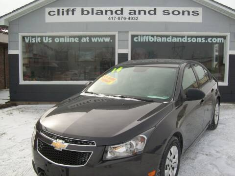 2014 Chevrolet Cruze for sale at Cliff Bland & Sons Used Cars in El Dorado Spg MO