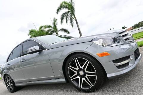 2013 Mercedes-Benz C-Class for sale at MOTORCARS in West Palm Beach FL