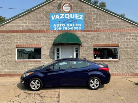 2013 Hyundai Elantra for sale at VAZQUEZ AUTO SALES in Bloomington IL