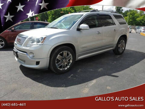 2012 GMC Acadia for sale at Gallo's Auto Sales in North Bloomfield OH
