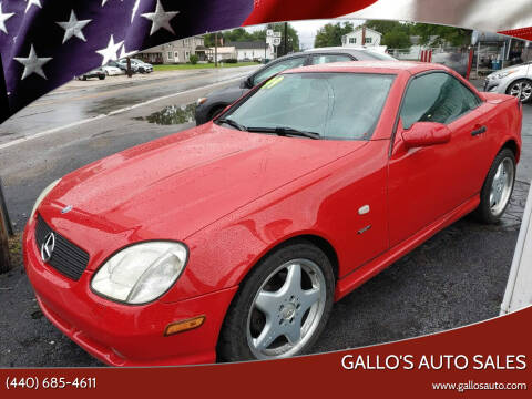 1999 Mercedes-Benz SLK for sale at Gallo's Auto Sales in North Bloomfield OH