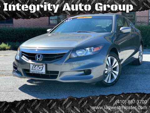 2011 Honda Accord for sale at Integrity Auto Group in Westminister MD