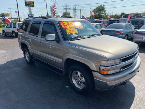 2002 Chevrolet Tahoe for sale at Texas 1 Auto Finance in Kemah TX